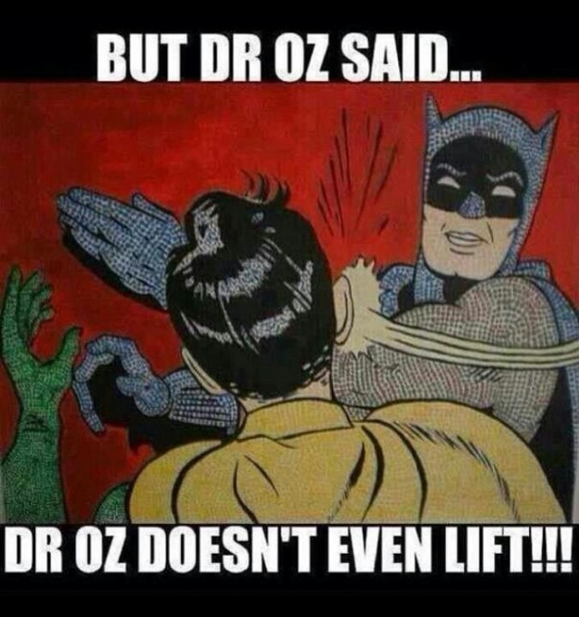 Dr. Oz gets a check. #truth