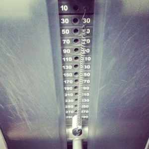 I do the stack on the outer thigh machine. woot