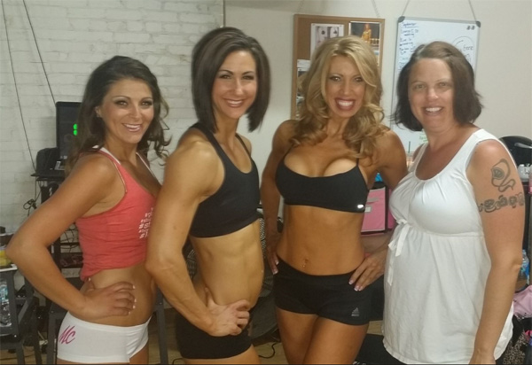 3 fit girls and JJ!