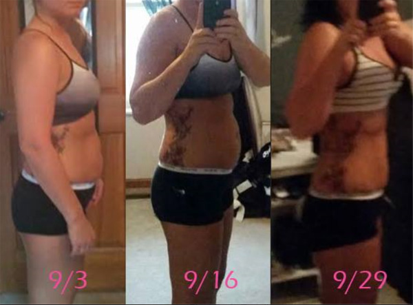 Monica is doing active fat loss (cutting) macros. She trains at home. 30 days and she's got abs! BAM