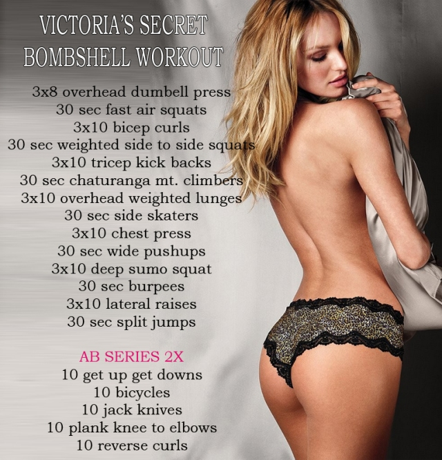 Victoria's secret Bombshell workout